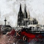 Bild Kölner Dom abstrakt von Vittorio Vitale 90x90 cm
