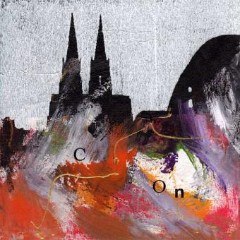 Kölner Dom 20x20 cm, Acryl, by VITTORIO VITALE